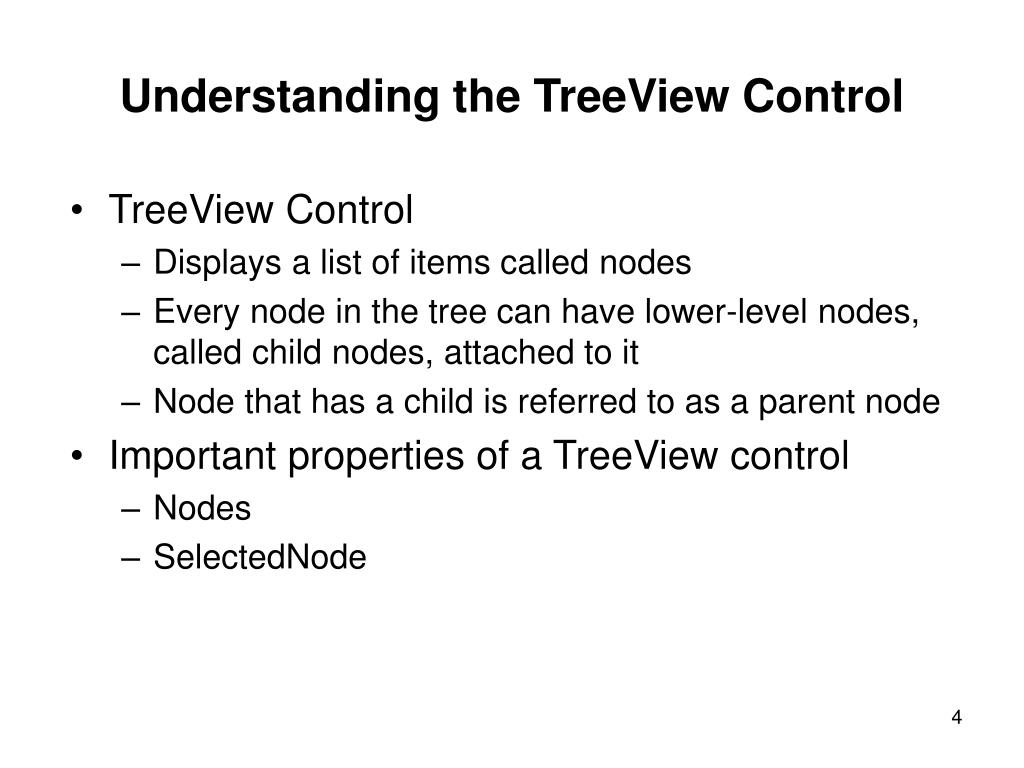 Understanding the TreeView Control
