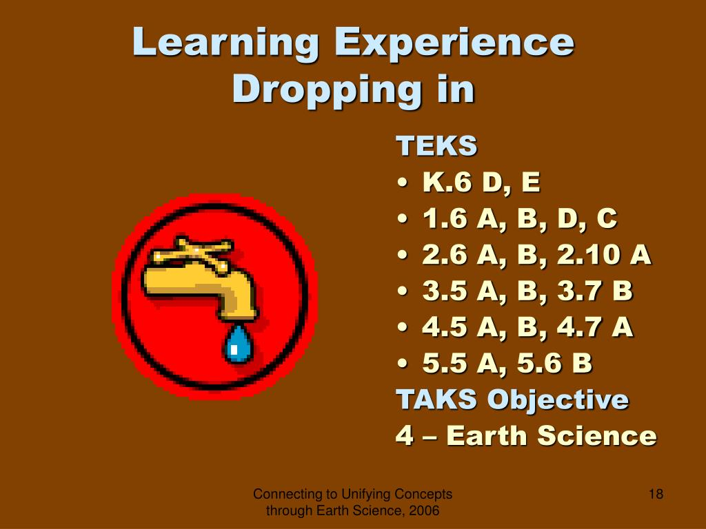 Learning Experience  Dropping in