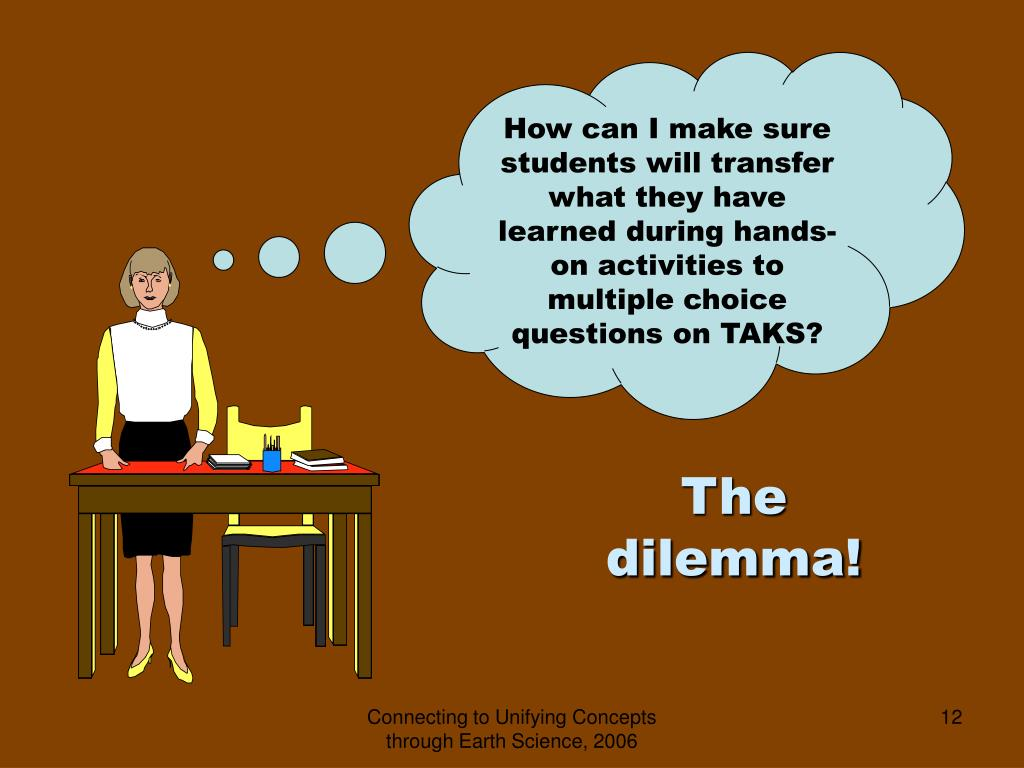 How can I make sure students will transfer what they have learned during hands-on activities to multiple choice questions on TAKS?