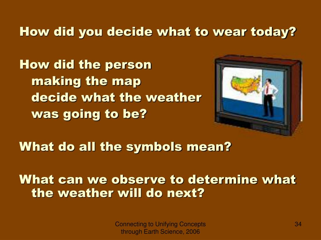 How did you decide what to wear today?