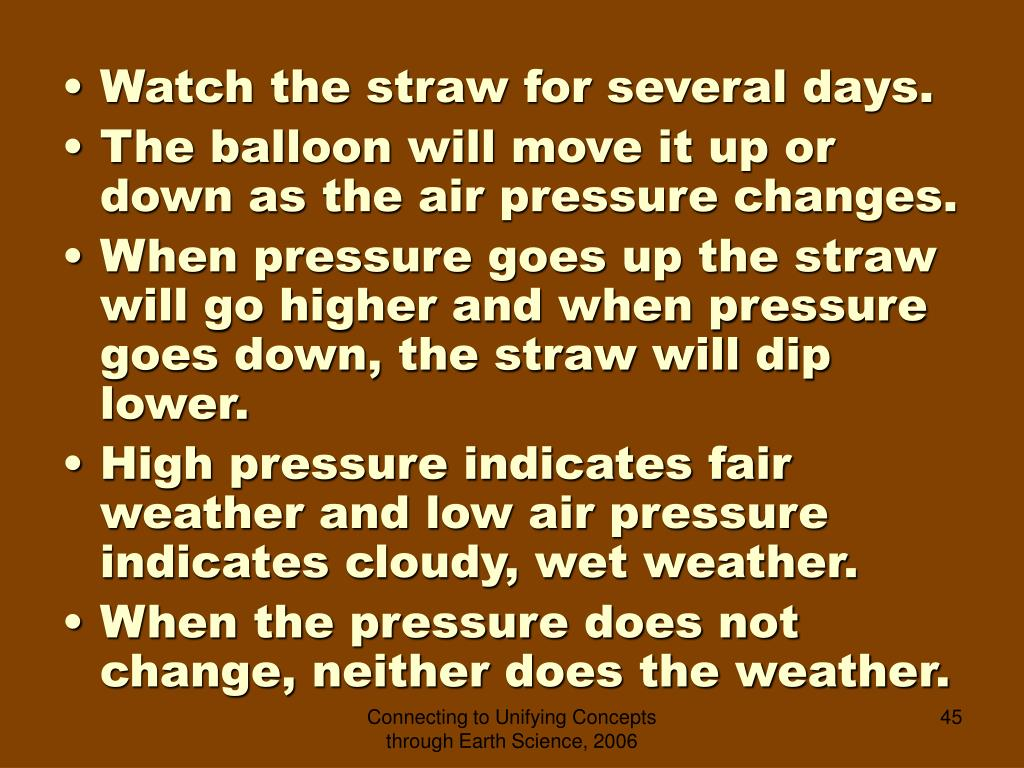 Watch the straw for several days.
