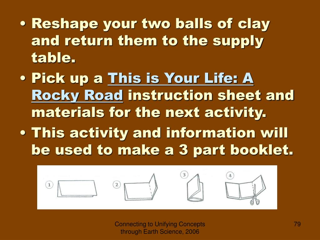 Reshape your two balls of clay and return them to the supply table.