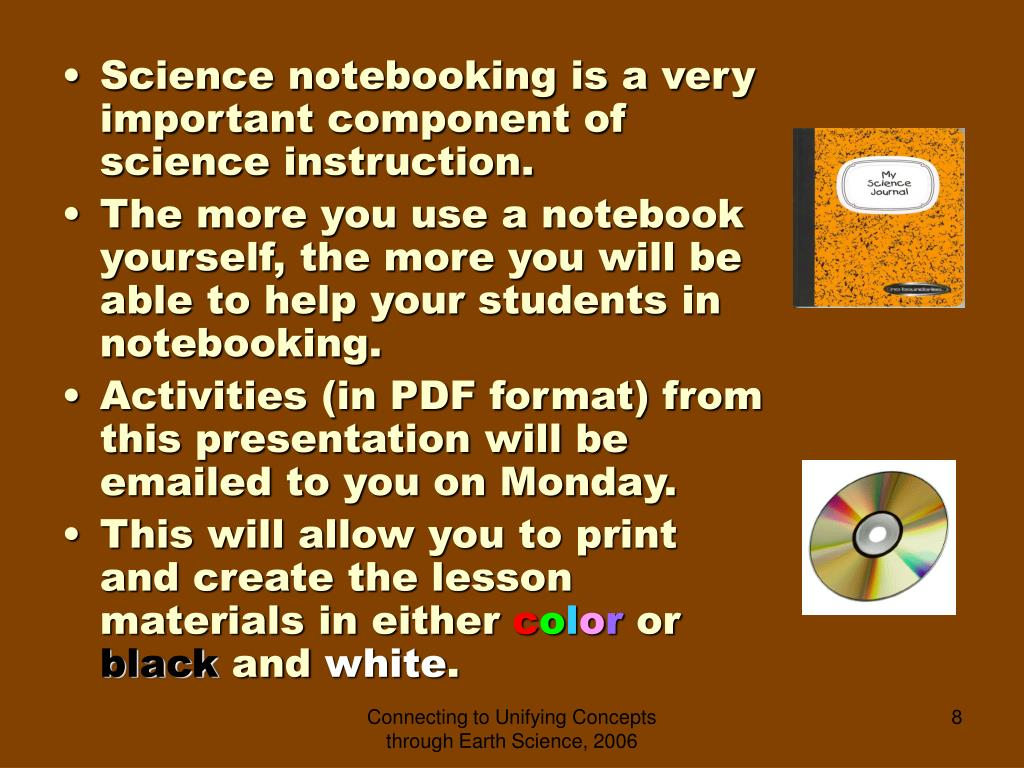 Science notebooking is a very important component of science instruction.