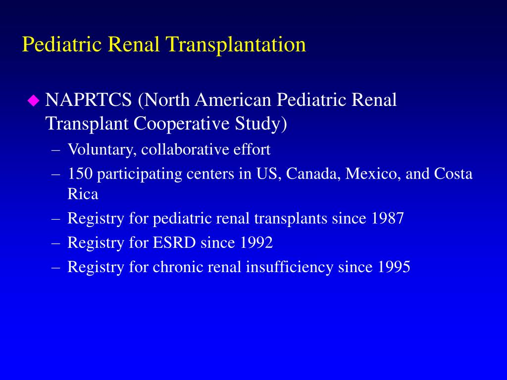 Pediatric Renal Transplantation