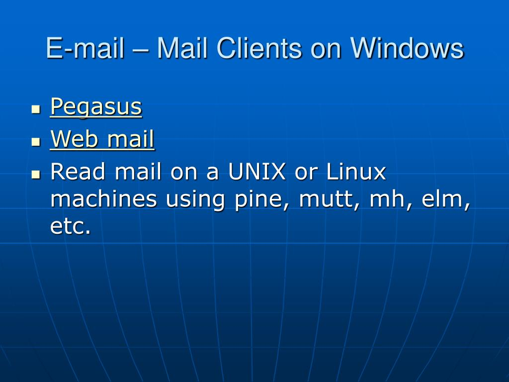 E-mail – Mail Clients on Windows