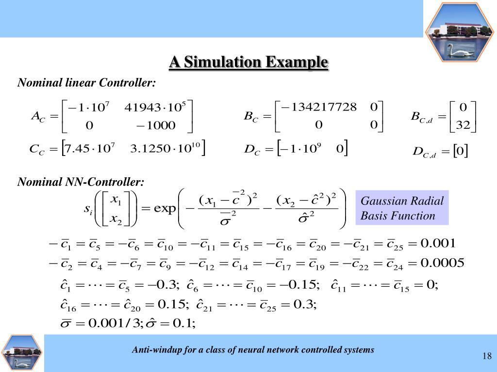 Nominal linear Controller:
