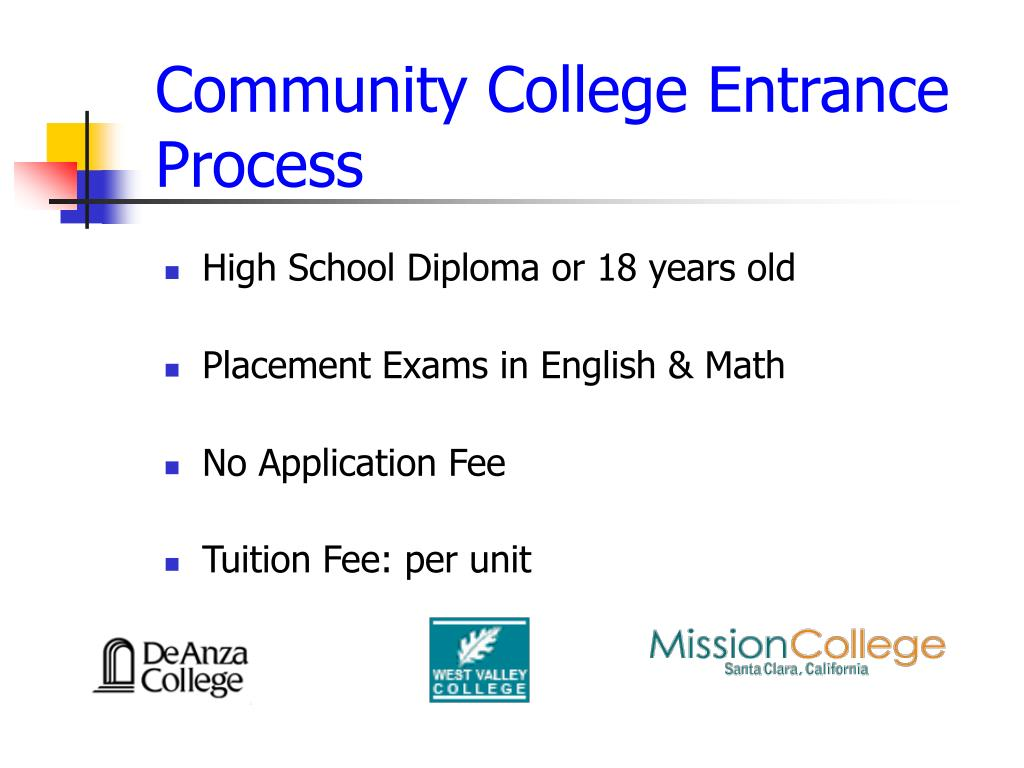 Community College Entrance Process