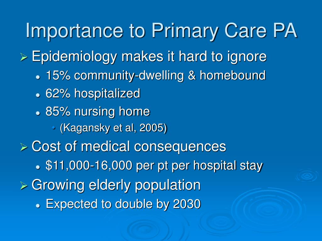 Importance to Primary Care PA