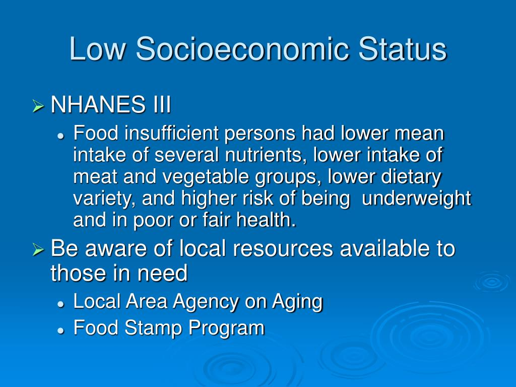 Low Socioeconomic Status