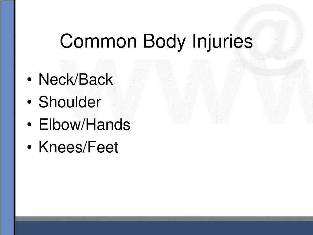 Common Body Injuries
