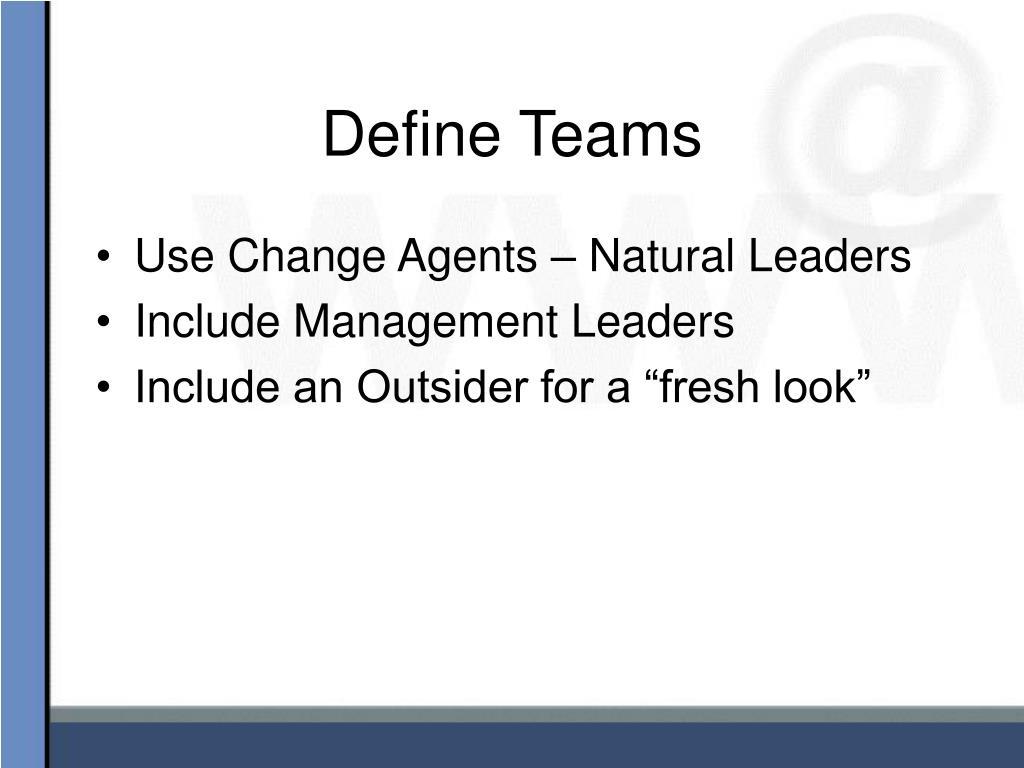 Define Teams