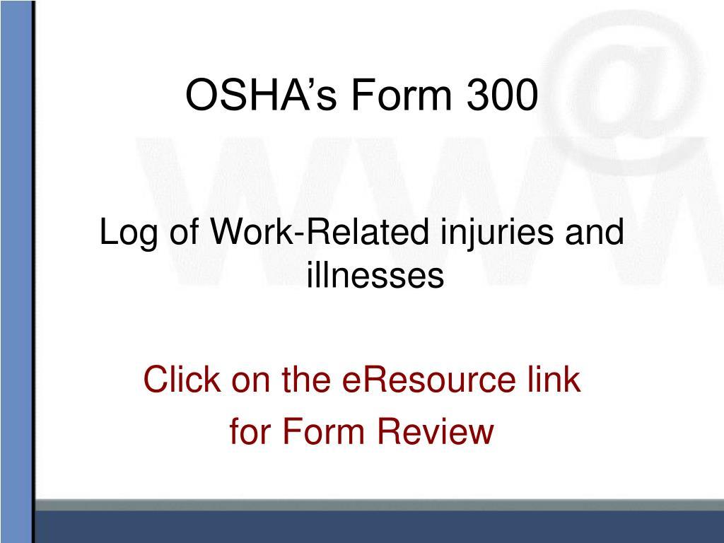 OSHA's Form 300