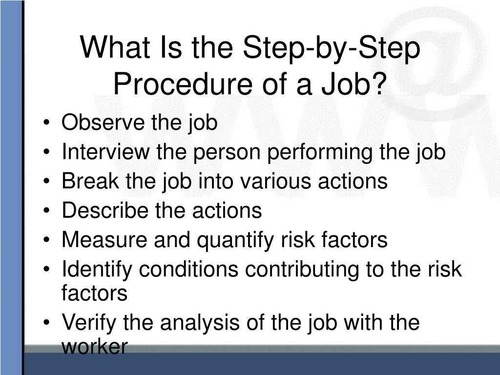 What Is the Step-by-Step Procedure of a Job?