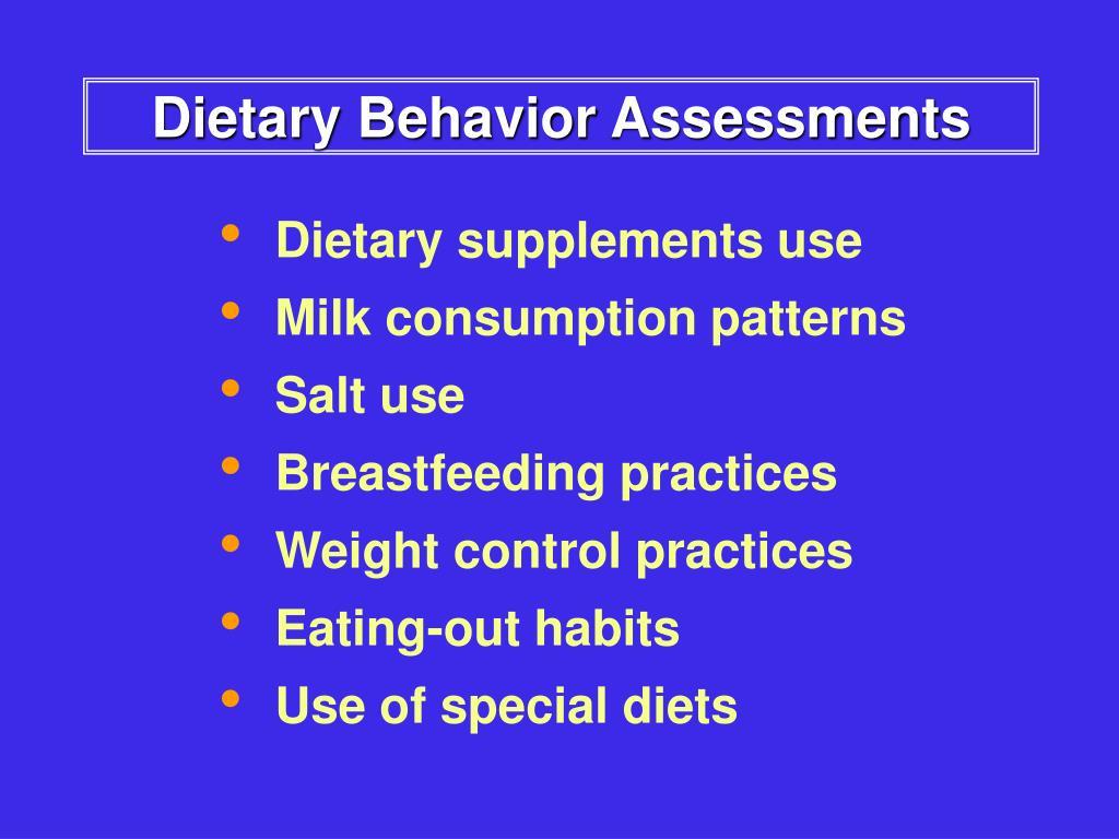 Dietary Behavior Assessments