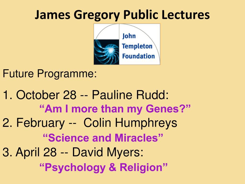 James Gregory Public Lectures
