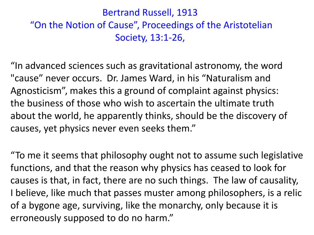 Bertrand Russell, 1913