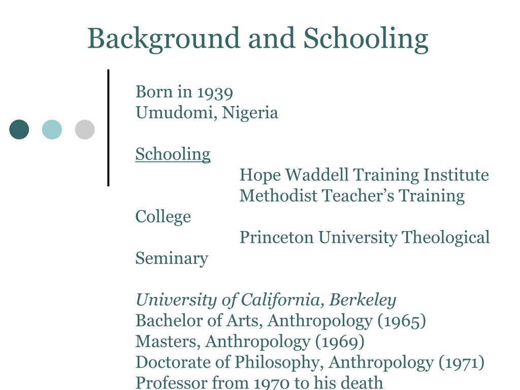 Background and Schooling
