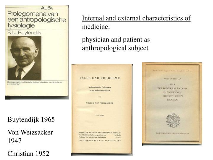 Internal and external characteristics of medicine