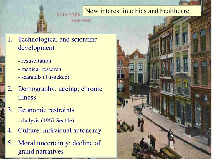 New interest in ethics and healthcare