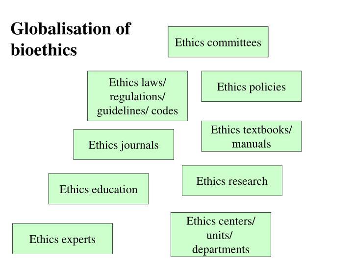 Globalisation of bioethics