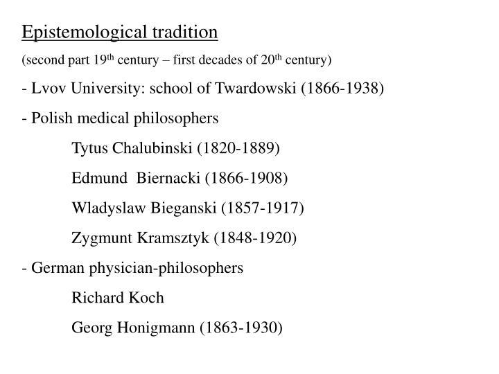 Epistemological tradition