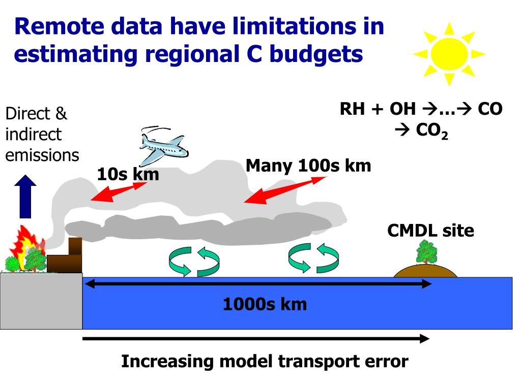 Remote data have limitations in  estimating regional C budgets