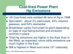 coal fired power plant hg emissions