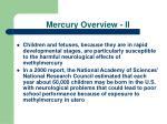 mercury overview ii