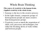 whole brain thinking
