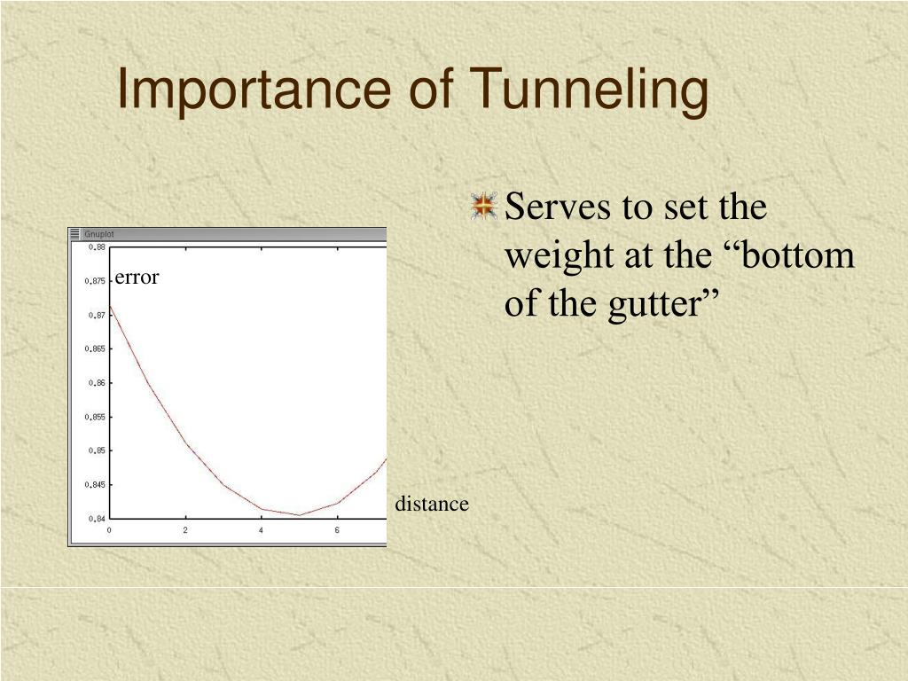 Importance of Tunneling