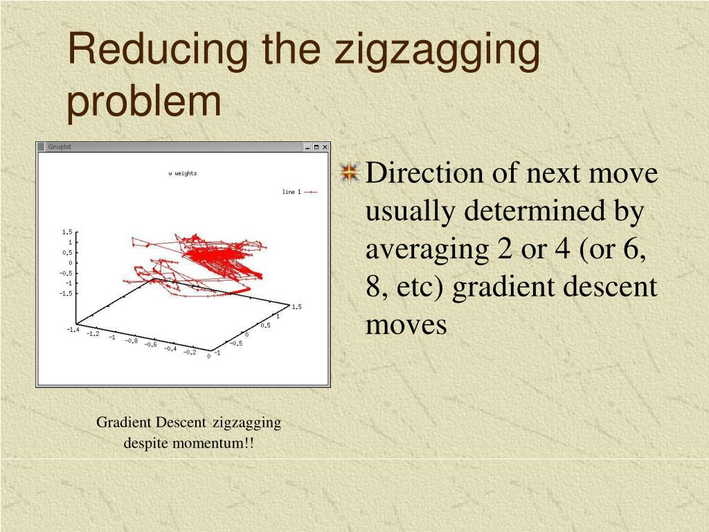Reducing the zigzagging problem