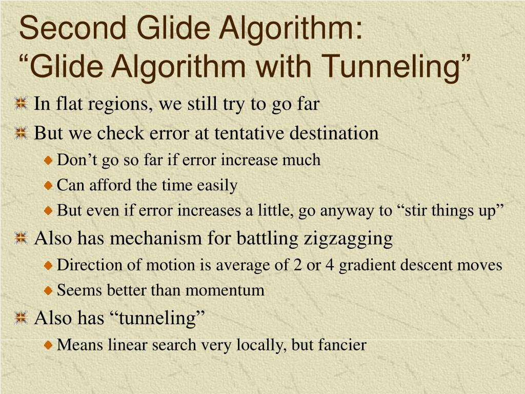 Second Glide Algorithm: