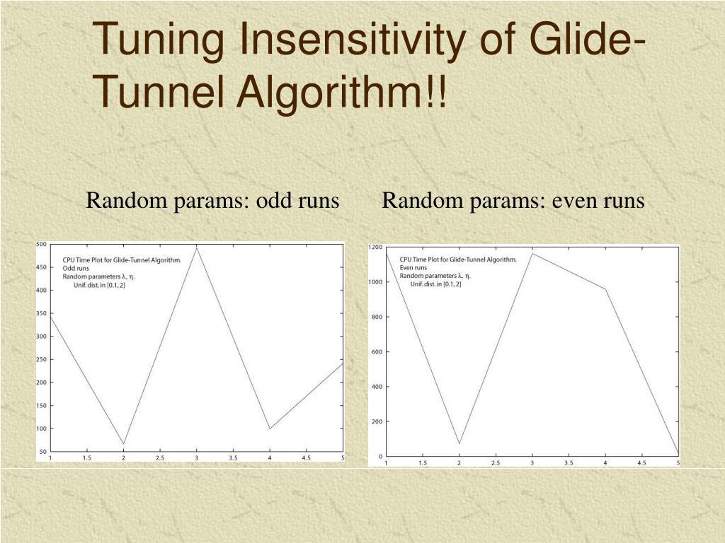Tuning Insensitivity of Glide-Tunnel Algorithm!!