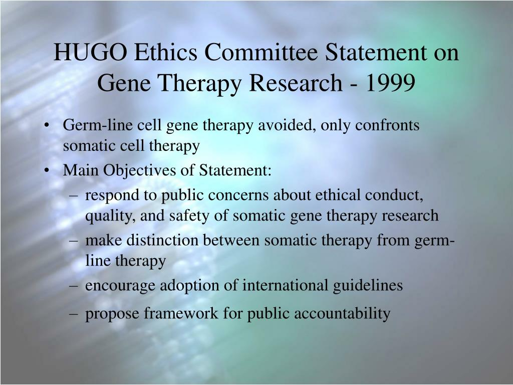 researchpaper on genetheraphy