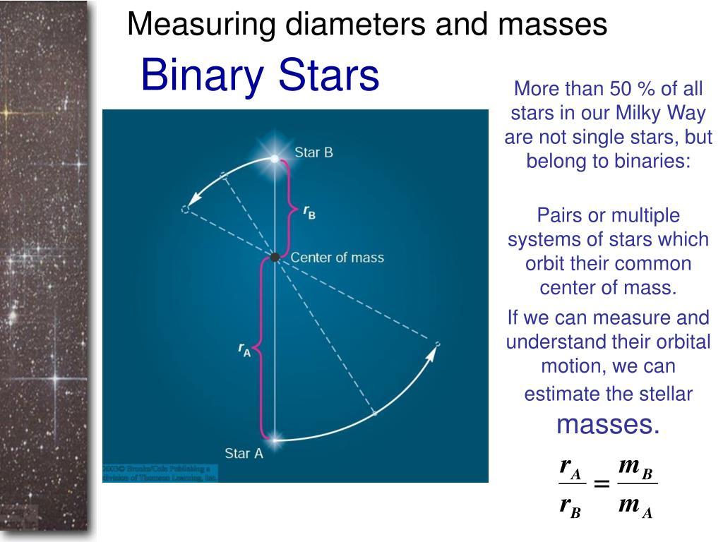 Measuring diameters and masses