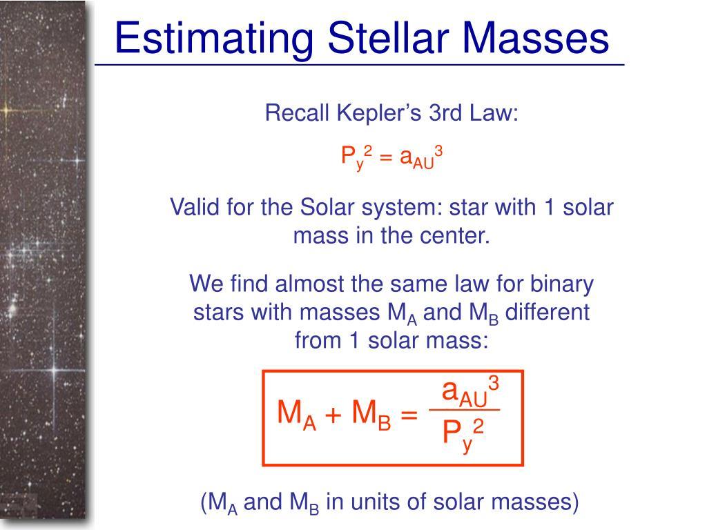 Estimating Stellar Masses