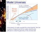 model universes