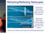 refracting reflecting telescopes