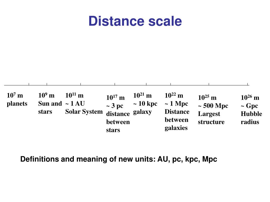 Distance scale
