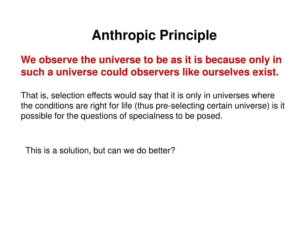 Anthropic Principle