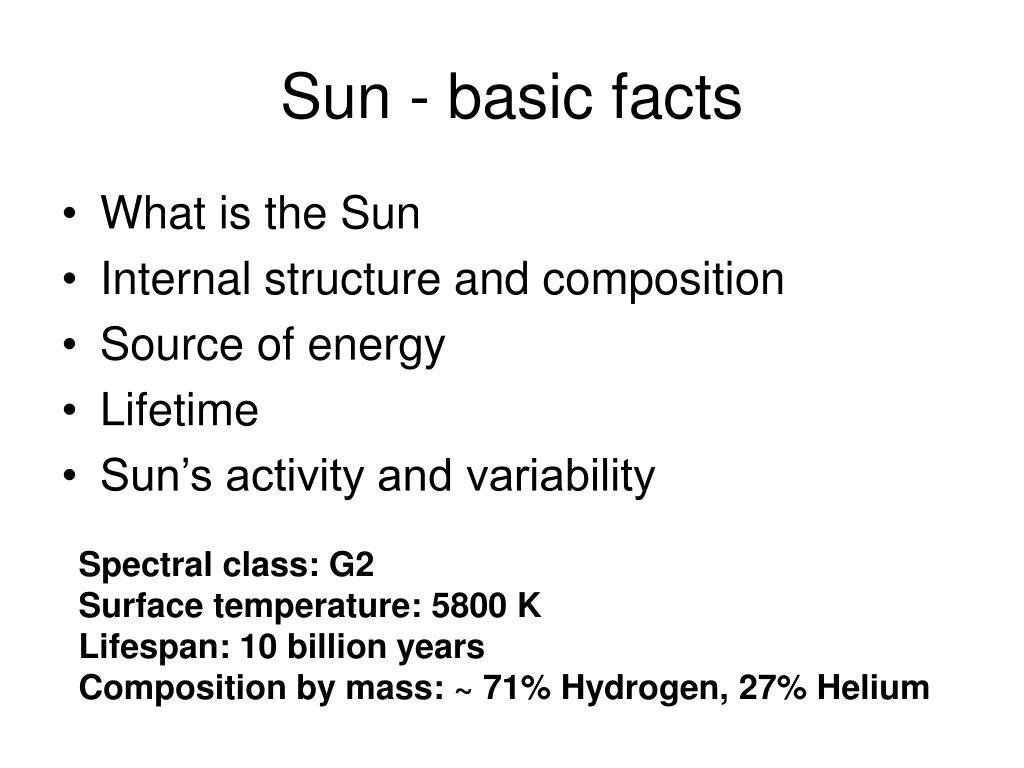 Sun - basic facts