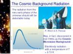 the cosmic background radiation75