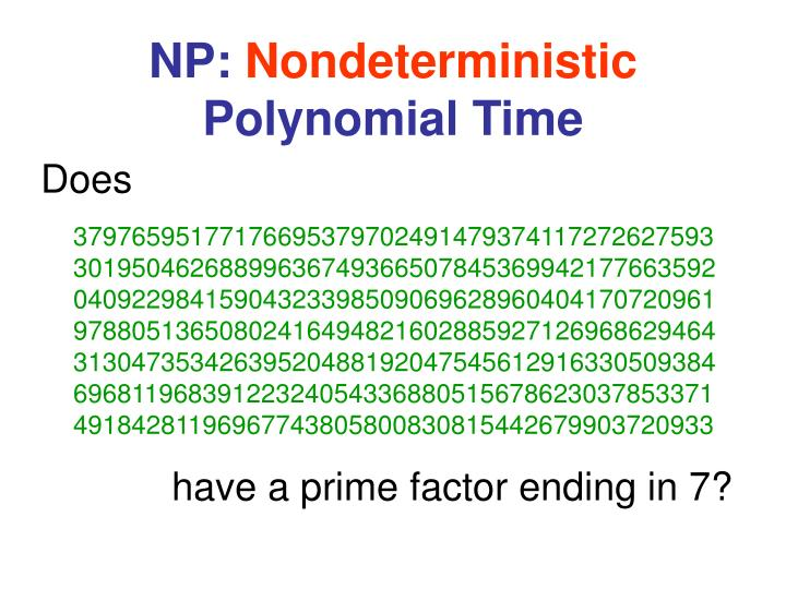 Np nondeterministic polynomial time