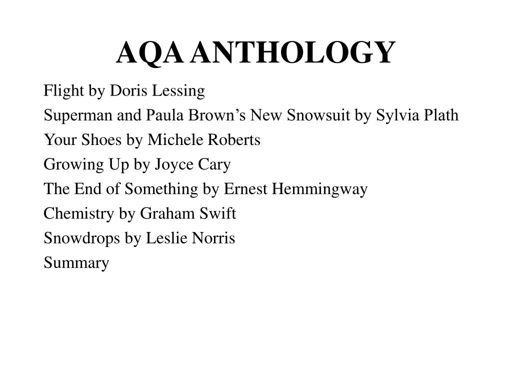 AQA ANTHOLOGY