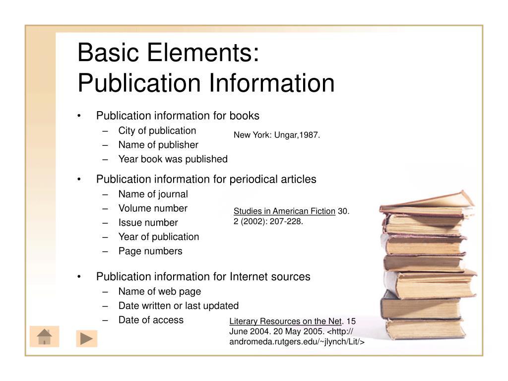 Basic Elements: