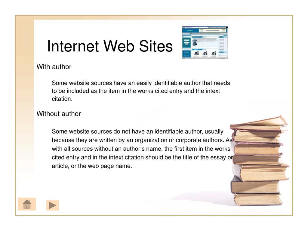 Internet Web Sites