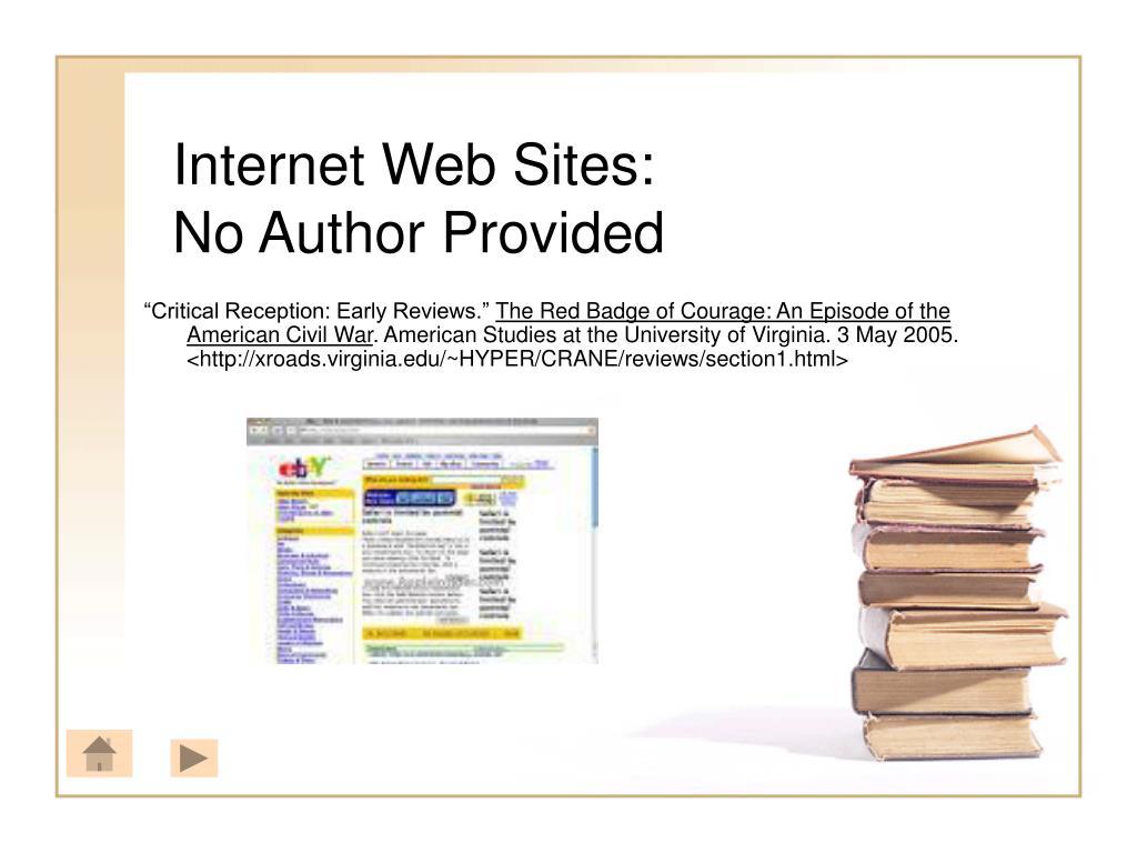 Internet Web Sites: