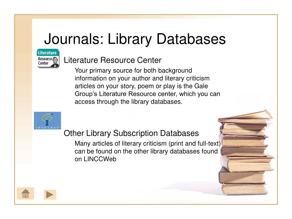 Journals: Library Databases