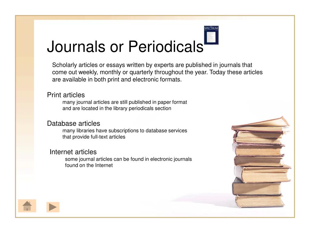 Journals or Periodicals