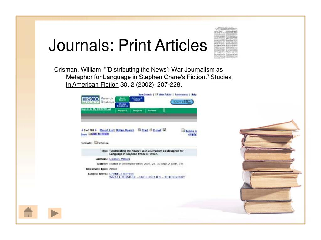 Journals: Print Articles